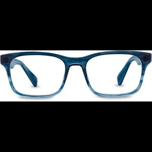 EUC Warby Parker Cass Glasses in Blue Slate Fade